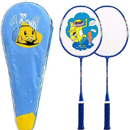 LEICH Badmintonschläger Leichte Trainingsschläger Aluminiumlegierung High Grade Berufsbadmintonschläger mit Premium-Badminton-Tasche (Color : A)