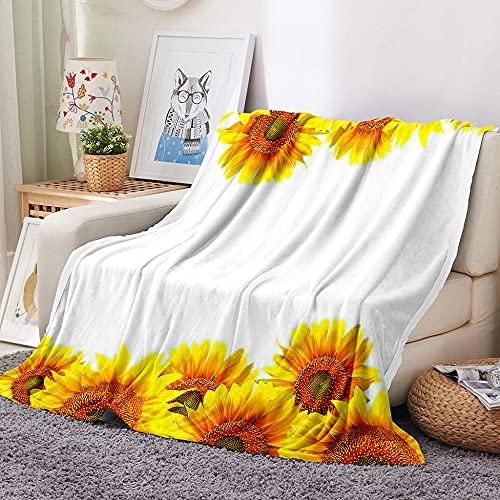 HKDGHTHJ Mantas para Sofa Baratas 200 X 200 cm Flor Blanca Creativa...
