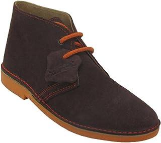 K100PC – Italian Toe Safari Boot Combined Chocolate – Orange