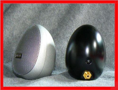 ARCUS The Egg, Design-Lautsprecher, Farbe Silber, Paar