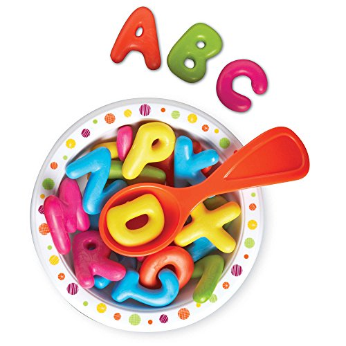 Learning Resources Alphabet Soup, Fine Motor Toy, ABCs, Pre-Reading, Early Phonics, 28 Pieces, Ages 2+,Multi-color,1.25-1.5 Inches Each
