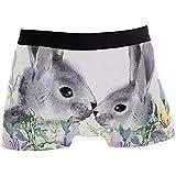 Pascua Animal Rabbit Boxer Briefs para Hombres Boy Youth Ropa Interior para Hombres Poliéster Spandex Transpirable