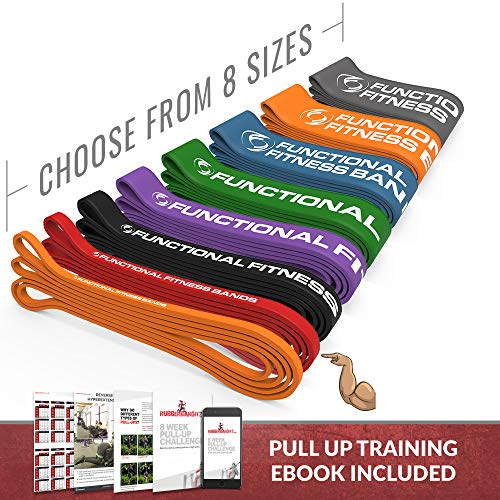 Pull up Band - #2 - 20 - 35 lbs. (9 - 16 kg) Resistance - (8 sizes, available in 15, 35, 50, 80, 120, 150, 170, and 200 pound options, 6-Month Warranty) assisted pull-ups, chin-ups, powerlifting, rehab, physical therapy, muscle-Ups, ring dips, gymnastics, home gyms. These super bands have become popular with CrossFit athletes around the world. Get stronger, faster and support a company with a strong social impact goal.
