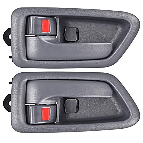 FAERSI 2Pcs Inside Interior Door Handle Front Rear Driver & Passenger Side Replacement for 1997 1998 1999 2000 2001 Camry, Gray