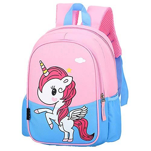 POWOFUN Mochila para niños pequeños, linda mochila, 12.2\'\' (unicornio azul)