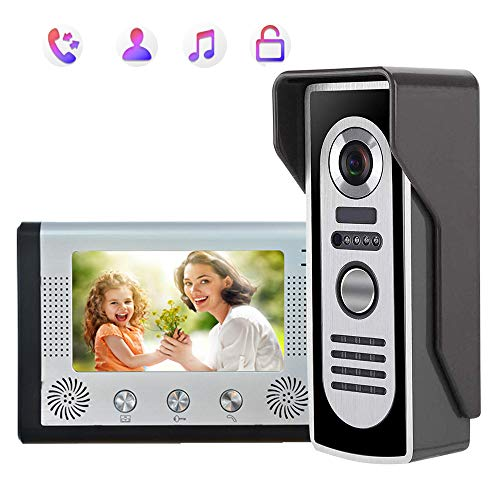 AWYYSYS draadloze video-deurintercom, deurbel-intercomsysteem, 7 inch wifi LCD touchscreen, waterdicht, met 24 polyphone beltonen zijn optioneel, Home Security WiFi deurbel