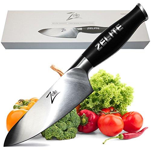 Zelite Infinity Chef Knife 6 Inch - Comfort-Pro Series - German High Carbon Stainless Steel - Razor Sharp, Super Comfortable