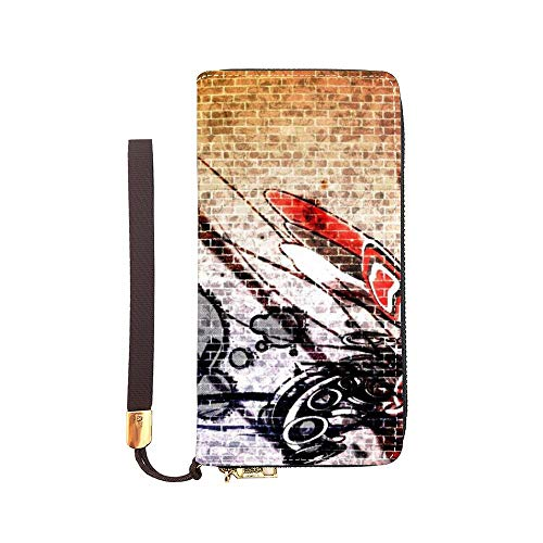 "Women and Girls Long Wristlet Handbag Wallet Credit Cards Long handbag download free street art 7.87""x 4.13""x 0.98"""
