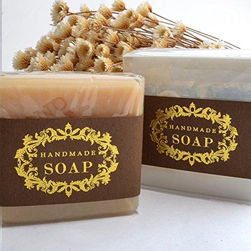Wakehurst Wrap Papier Etiketten Seife Verpackungsmaterialien für Hand gemacht Seifenkisten Taschen 20 Blätter (Goldschale handgemachte Seife)