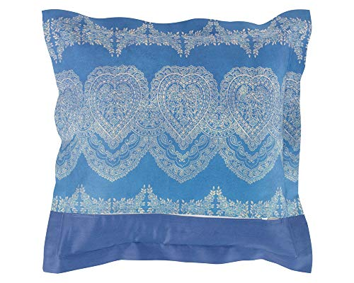 Bassetti Funda de cojín, Algodón, Azul, 40 x 40 cm