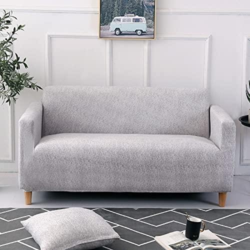 PPOS Fundas de sofá elásticas a Cuadros Funda de sofá para Sala de Estar Funda para sofá Gran felxibilidad Poliéster A8 4 Asientos 235-300cm-1pc