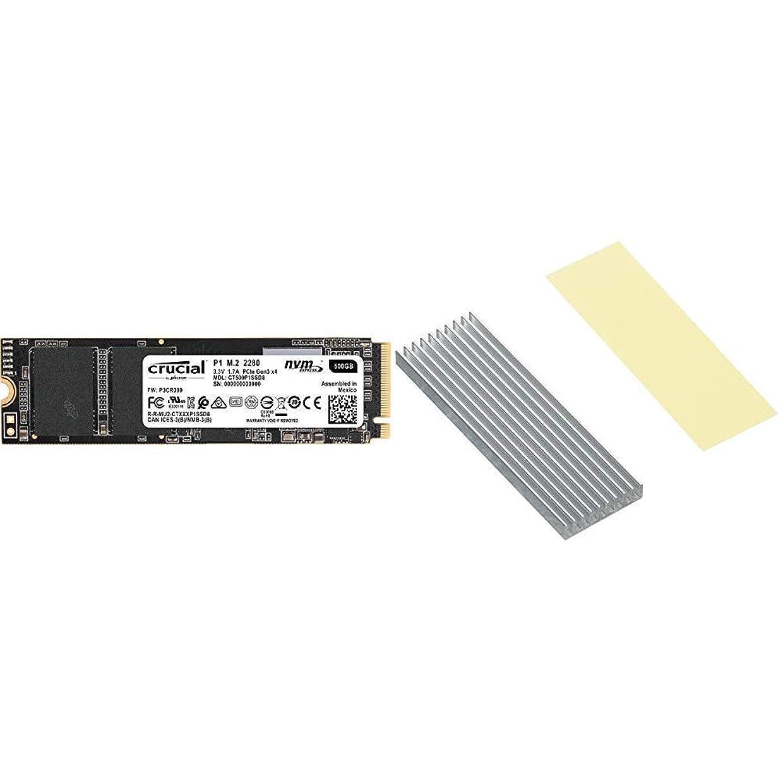 眼ペインティング検索エンジンマーケティングCrucial SSD M.2 500GB P1シリーズ Type2280 PCIe3.0x4 NVMe 5年保証 CT500P1SSD8JP & アイネックス AINEX M.2 SSD用ヒートシンク HM-21