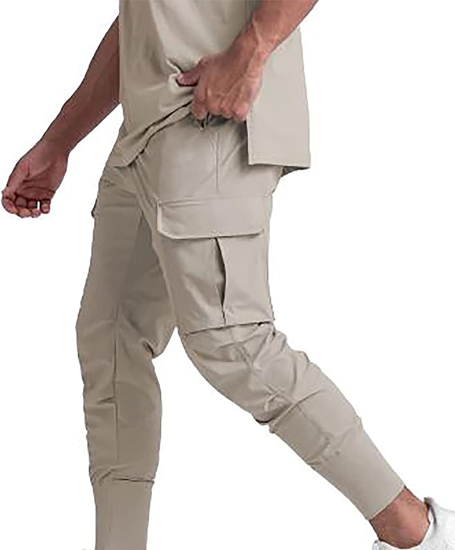 Zainafacai Mens Casual Cargo Pants Workout Athletic Joggers Pants Cotton Sport Gym Pants Relaxed Fit Sweatpants Trousers