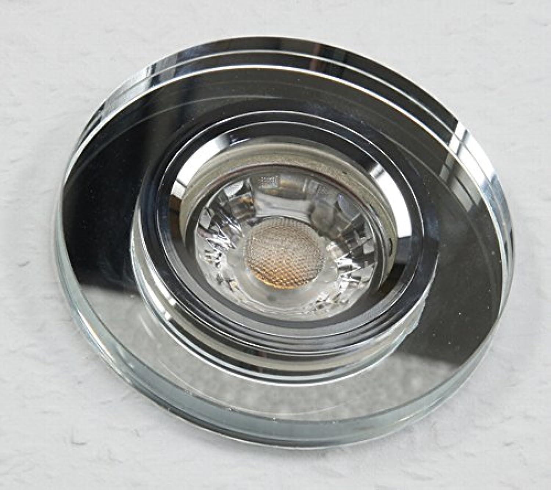 4 Stück MCOB LED Glas Einbaustrahler Maja 230 Volt 3 Watt Starr Silber Warmwei