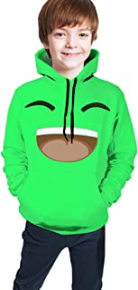 WANGTWWE Youth Hooded Green-Jelly Kids 3D Print Pullover Sweatshirt
