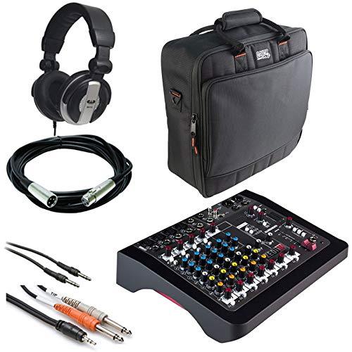 Allen & Heath ZEDi-10 Compact Hybrid-Mixer/USB-Schnittstelle + Gator Cases G-Mixerbag + Kopfhörer + XLR-Mikrofonkabel + Instrumentenkabel & Stereo-Kabel