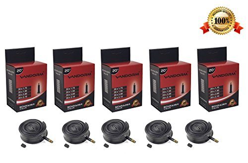 Vandorm 20' BMX Inner Tube 5 Pack Schrader Valve BULK Pack