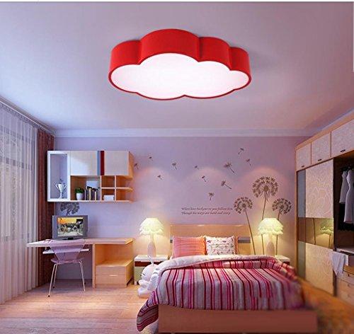 Lily's-uk Love Enfants Nuage Plafonnier Rouge Simple Moderne Led Chambre Chambre Lumières Personnalité Créative Jardin d'enfants Lampes