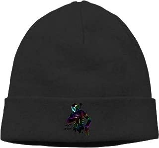 Gaoger Mens & Womens Daft Punk Skull Beanie Hats Winter Knitted Caps Soft Warm Ski Hat White