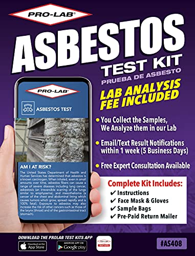 ProLab Asbestos Test Kit Lab Fee Included Emailed Results...