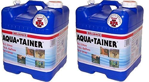 Reliance Products Aqua-Tainer 7 Gallon Rigid Water Container (Pack of...