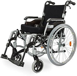Equipmed 130kg Capacity Aluminium Wheelchair with Folding Armrests