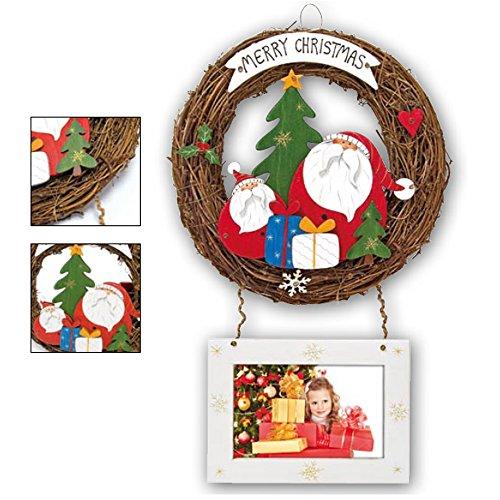 Zep S.r.l Goteborg Décoration de Noël avec Photo pour Porte, Bois, Blanc, 32 x 62.5 x 10 cm