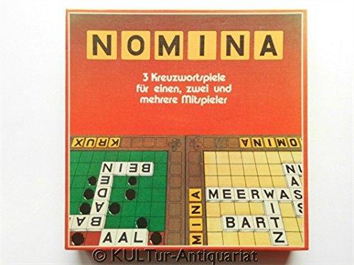 NOMINA - 3 Kreuzwortspiele, (NOMINA, Krux und Kreuzwort Hobby), 604 6615.