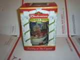 Budweiser Beer Stein 2001 Holiday at the Capital Clydesdale Horses Red Bow Dog No Box