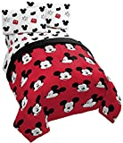Jay Franco Disney Mickey Mouse Cute Faces 5 Piece Full Bed Set - Includes Comforter & Sheet Set - Super Soft Fade Resistant Polyester - (Official Disney Product)