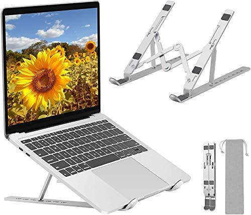 ANNA TOSANI Soporte Portátil Plegable, 7 Ángulos Ajustables, Aluminio Atril Soporte para Computadora Netbooks de Ventilado,Soporte...