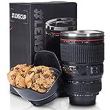 Mug Thermo Mug pour appareil photo Mug pour appareil photo Objectif Mug pour café Mug pour café Objectif Mug Iso 300 ml en acier inoxydable à double paroi avec couvercle étanche