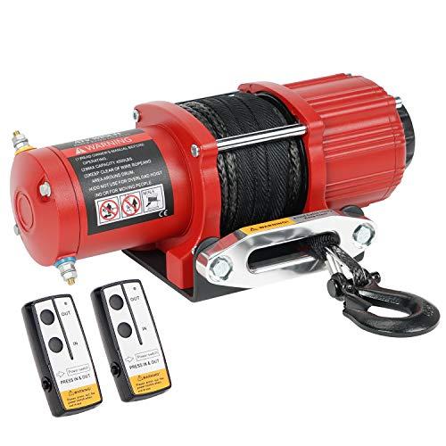 Ayleid 12V 4500LBS Load Capacity Electric ATV/UTV Winck Kit with Synthetic Rope (Nylon-4500S)