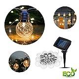 LED Solar Lichterkette Glühbirnen, Morbuy Kugel Ananas 10 / 20LED Außen Garten Deko Wasserfest 2...