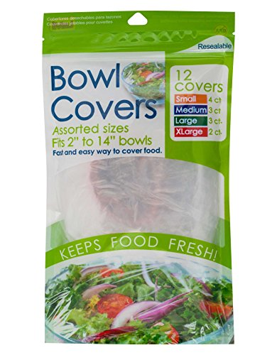 Brite Concepts Reusable Bowl Covers, 4 Sizes, Set of 12, 2-pack (24 bowl covers)