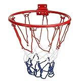 Durable 32 cm / 45 cm niños niños de acero adulto anillo de baloncesto neto con tornillos de baloncesto montado en la pared RONE NET INTERIOR AIRE DEPORTE Completo Accesorios ( Color : Adult size )