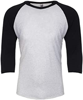 Adults Unisex Tri-Blend 3/4 Sleeve Raglan T-Shirt