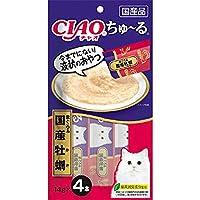 【セット販売】チャオ ちゅ~る まぐろ&国産牡蠣 (14g×4本)×6コ[ちゅーる]