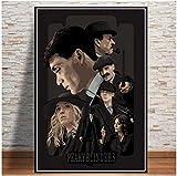 Liuheng Peaky Blinders Temporada Serie De TV Lienzo Pintura Arte De La Pared Cartel del Hogar Decoración De La Pared Pintura Arte De La Pared Decoración para Sala De Estar 50X70cm R-520