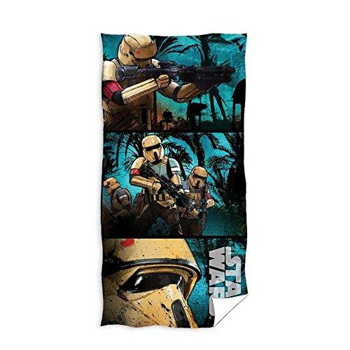 Star Wars - Toalla (100% algodón, 70 x 140 cm), Multicolor