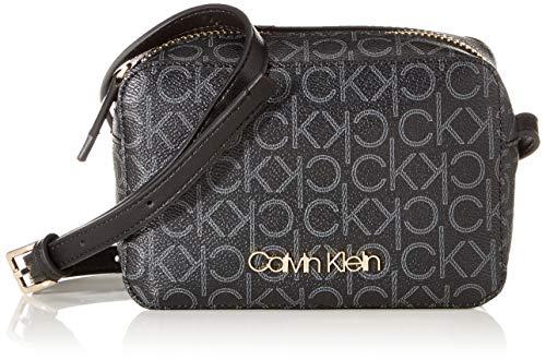 Calvin Klein Damen Ck Must F19 Camerabag Umhängetasche, Schwarz (Black Mono), 7x12x18 cm