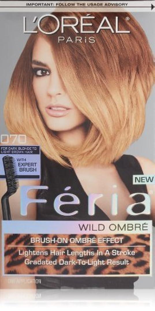 従来のダニするだろうL'Oreal Feria Wild Ombre Hair Color, O70 Dark Blonde to Light Brown by L'Oreal Paris Hair Color [並行輸入品]