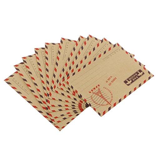 Beito Lot de 40 enveloppes en papier kraft avion style vintage 4 styles différents aléatoires