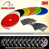 NEU - Rimblades mit 3M Kleber - Singlepackung - Farbe: Silber - Premium Felgenschutz und Styling für Alufelgen bis 22'' ~ schneller Versand innerhalb 24 Stunden ~
