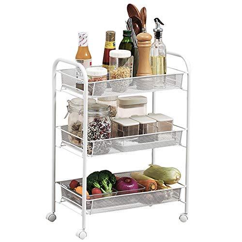 3 niveles de estantería de almacenamiento estantería de almacenamiento estantes de metal unidades para estanterías de almacenamiento de garaje estantes de cocina para cocina de cocina en casa baño, 44