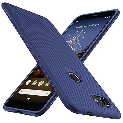 iBetter für Google Pixel 3A Hülle, Ultra Thin Tasche Cover Silikon Handyhülle Stoßfest Hülle Schutzhülle Shock Absorption Backcover Hüllen passt für Google Pixel 3A Smartphone (Blau)