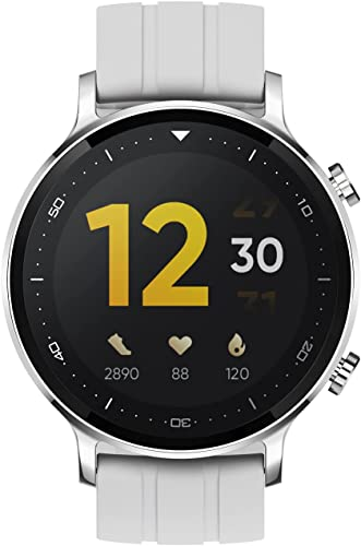 realme Smart Watch S with 1 3 TFT LCD Touchscreen 15 Days Battery Life SpO2 Heart Rate Monitoring IP68 Water Resistance Silver