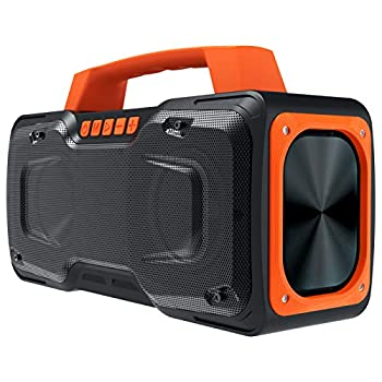 Bluetooth Speaker BUGANI 50W Super Power Portable Bluetooth Speakers Waterproof IPX7 Support 30H Playtime Fast Charging Microphone Input Suitable for Party Travel Singing Orange