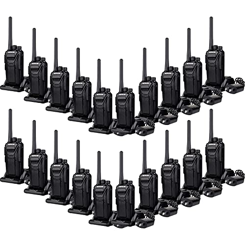 Retevis RT27 Walkie Talkies Long Range,Rechargeable Two Way Radios,USB Charger Base Fall Resistant Simple,Hands Free 2 Way Radio for Work,Hotel School Healthcare(20 Pack)