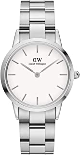 Daniel Wellington Japanese Quartz Watch with Stainless Steel Strap, Silver, 16 (Model: DW00100205)